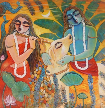 Subrata Ghosh | Acrylic Painting title Nandan on Canvas