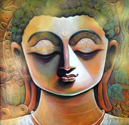 Peace | Painting by artist Subrata Ghosh | acrylic | Canvas
