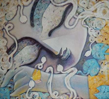 Tathagatha | Painting by artist Subrata Ghosh | acrylic | Canvas