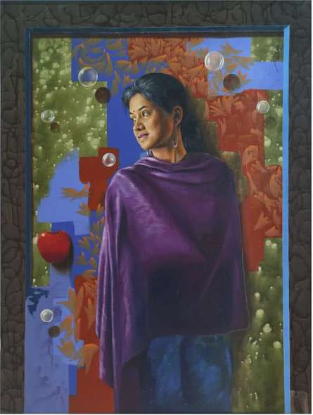 Evening | Painting by artist Nitin  Marde | acrylic-oil | Canvas