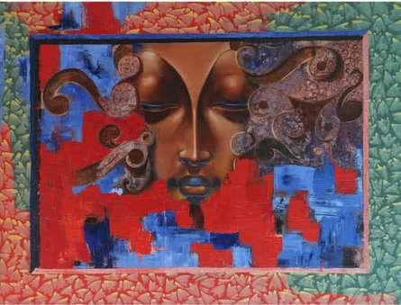 Inner Peace | Painting by artist Nitin Marde | acrylic-oil | Canvas