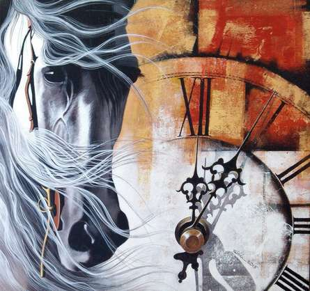 Chasing - the - time12 | Painting by artist Mithu Biwas | acrylic | Canvas