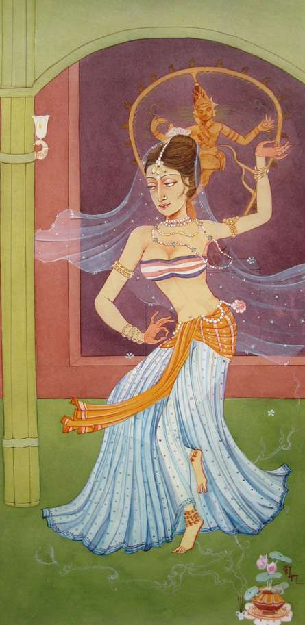 Urvashi | Painting by artist Rina Roy | watercolor | Paper