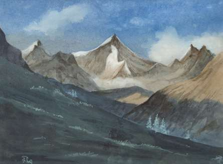 Mountain | Painting by artist Rina Roy | watercolor | Paper