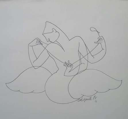 Untitled 5 | Drawing by artist Chikmath FV |  | ink | Paper