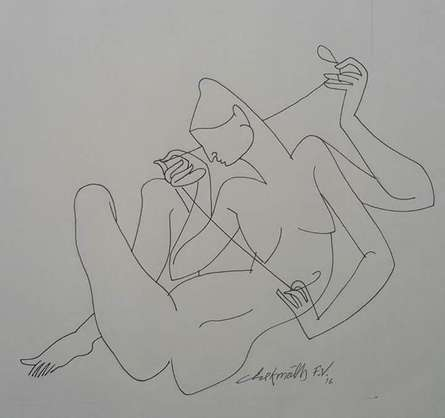 Erotic Ink Art Drawing title Untitled 1 by artist Chikmath FV