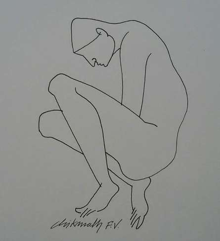 Untitled 4 | Drawing by artist Chikmath FV | | ink | Paper