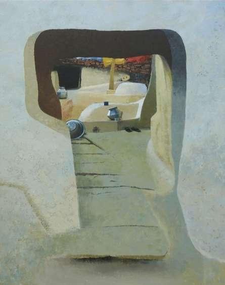 Landscape Acrylic Art Painting title Childhood Memories 4 by artist Sandeep Ghule