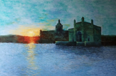 Cityscape Oil Art Painting title 'Gateway Of India' by artist Sandeep Ghule