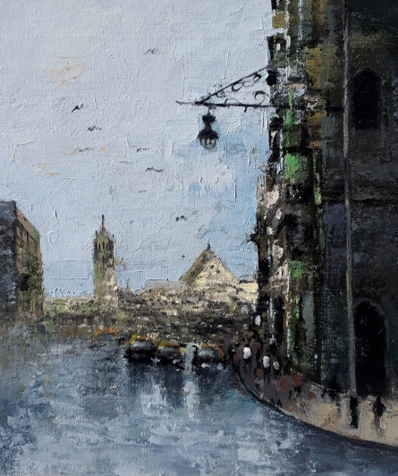 Sandeep Ghule | Acrylic Painting title Mumbai Series 7 on Canvas | Artist Sandeep Ghule Gallery | ArtZolo.com