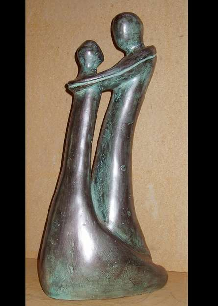 Unconditional Love 1 | Sculpture by artist Sunita Lamba | Bronze