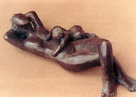 Unconditional Love 3 | Sculpture by artist Sunita Lamba | Bronze