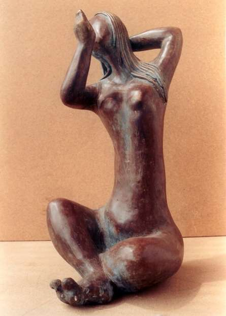 Sunita Lamba | Grace Sculpture by artist Sunita Lamba on Bronze | ArtZolo.com
