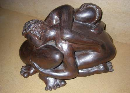 Intimacy | Sculpture by artist Sunita Lamba | Bronze