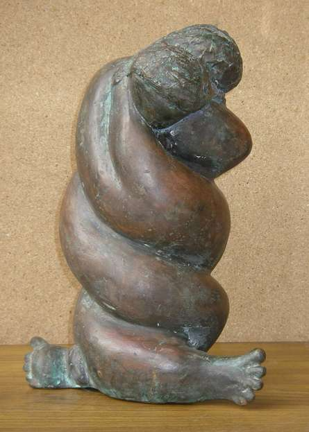 Bronze Sculpture titled 'Lovers' by artist Sunita Lamba