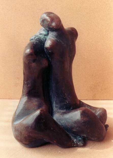 Sunita Lamba | Touch Sculpture by artist Sunita Lamba on Bronze | ArtZolo.com