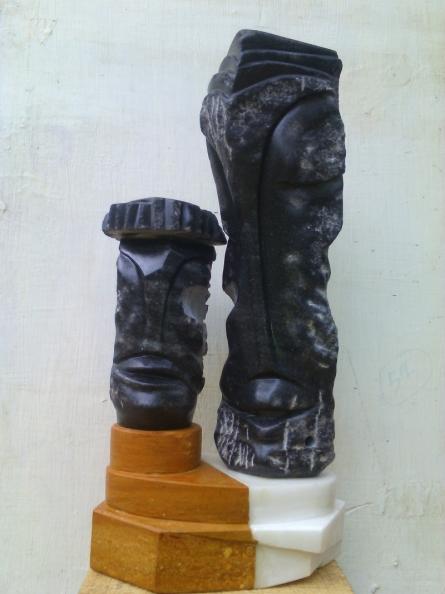 Couple 2 | Sculpture by artist Nema Ram | black marble