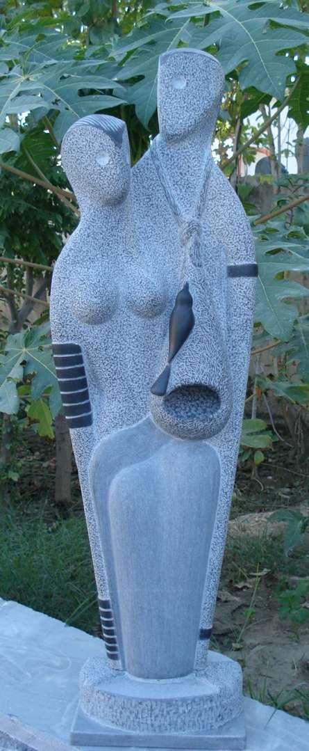 Nature 1   Sculpture by artist Nema Ram   Black Marble