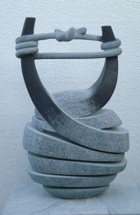 Nema Ram | Relationship Sculpture by artist Nema Ram on Black Marble | ArtZolo.com