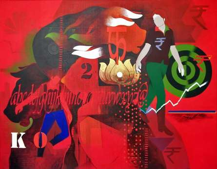 Homage | Painting by artist Ranjit Singh | acrylic | Canvas