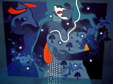 Beauty Beast - III | Painting by artist Ranjit Singh | acrylic | Canvas