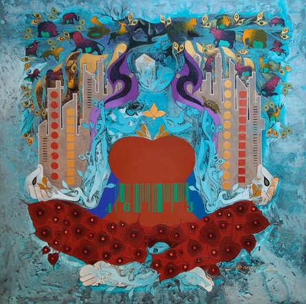 contemporary Acrylic Art Painting title Creation 44 by artist Ranjit Singh Kurmi