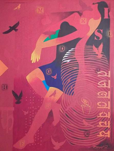 Feminity - 14 | Painting by artist Ranjit Singh | acrylic | Canvas