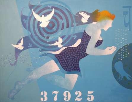 Ranjit Singh Paintings | Acrylic Painting - Flight Of Peace by artist Ranjit Singh | ArtZolo.com