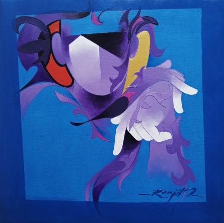 contemporary Acrylic Art Painting title 'Inspiration 9' by artist Ranjit Singh Kurmi