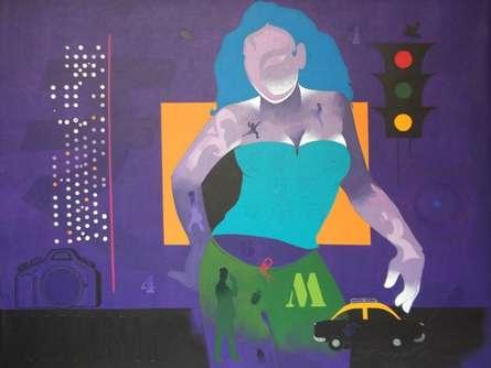 Mumbai 1 | Painting by artist Ranjit Singh | acrylic | Canvas
