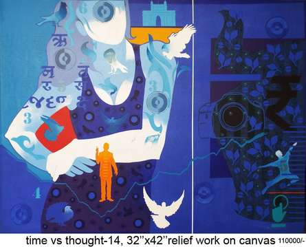 Time Vs Thought-14 | Painting by artist Ranjit Singh | acrylic | Canvas