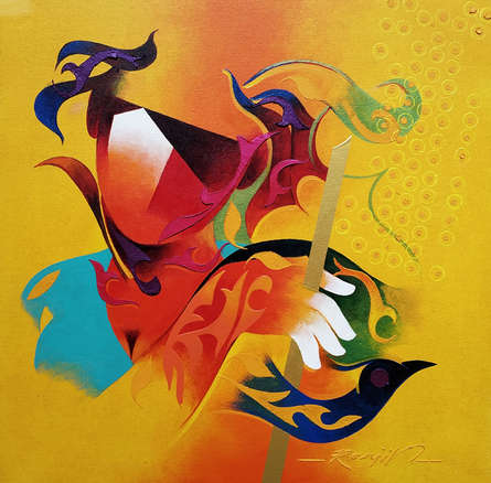 contemporary Acrylic Art Painting title 'Towards Happiness 2' by artist Ranjit Singh Kurmi