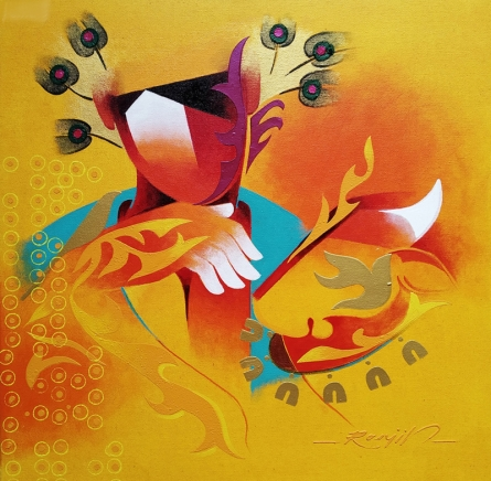 contemporary Acrylic Art Painting title 'Towards Happiness 3' by artist Ranjit Singh Kurmi