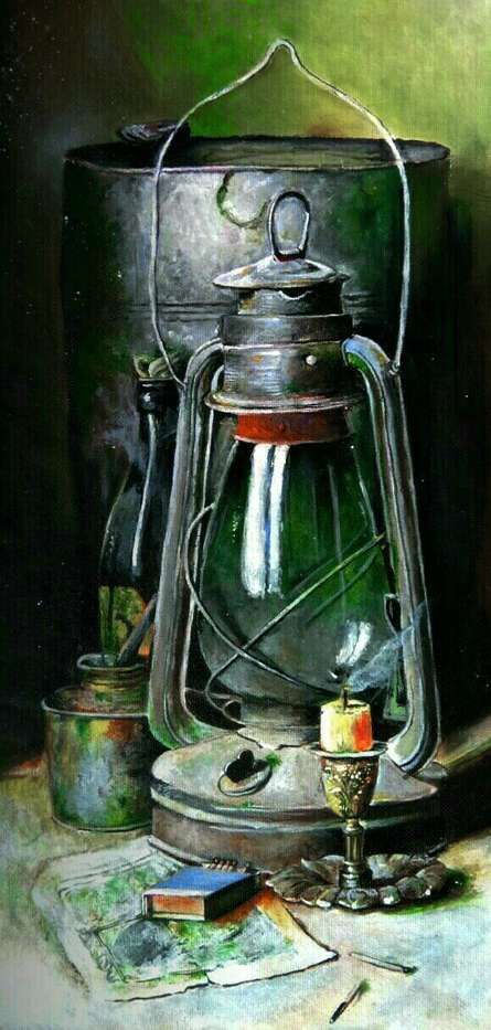 Hypothesis of antiques and light | Painting by artist Aayush Agarwal | acrylic | Paper