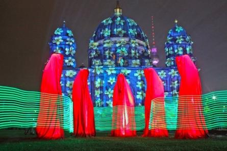 Festival-of-lights-berlin-guardians-of-t   Sculpture by artist Manfred Kielnhofer   polyester
