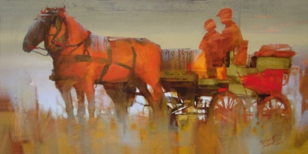 Evening Journey | Painting by artist Rajesh  Sawant | acrylic | Canvas