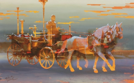 Royal Journey | Painting by artist Rajesh  Sawant | acrylic | Canvas