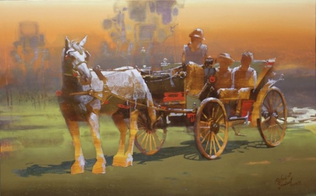 Silver Jouerny | Painting by artist Rajesh  Sawant | acrylic | Canvas
