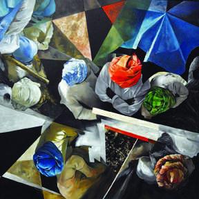 Top Veiw 2 | Painting by artist Ajit  Deswandikar | oil | Canvas