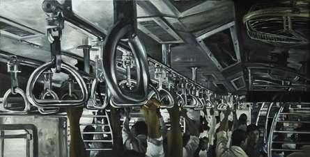 Train Camp2 | Painting by artist Ajit  Deswandikar | oil | Canvas
