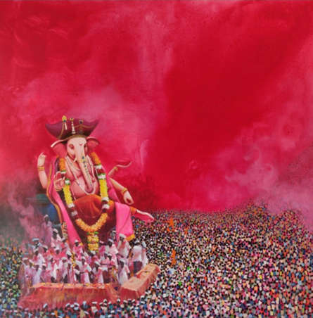 Religious Acrylic Art Painting title 'Culture Of India' by artist Amol Satre