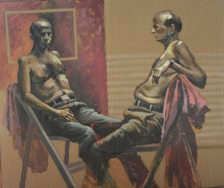 Talking | Painting by artist Amol Satre | acrylic | Canvas