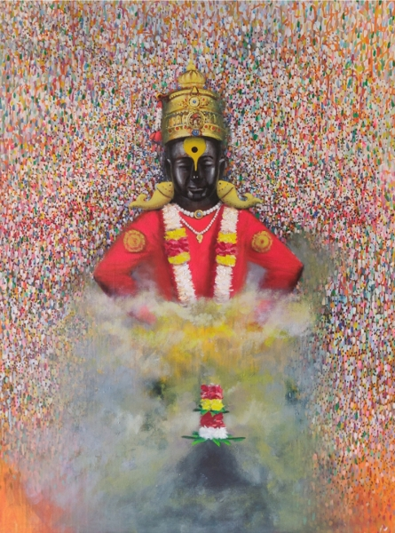 Religious Acrylic Art Painting title 'Mauli' by artist Amol Satre