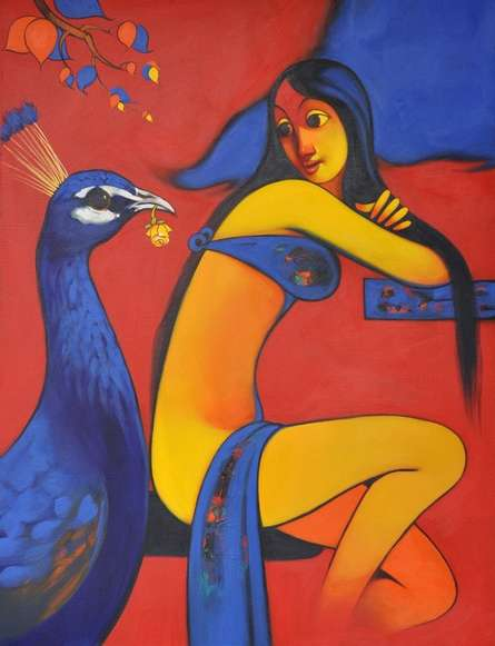 Navnath Chobhe | Acrylic Painting title Friendship on Canvas | Artist Navnath Chobhe Gallery | ArtZolo.com
