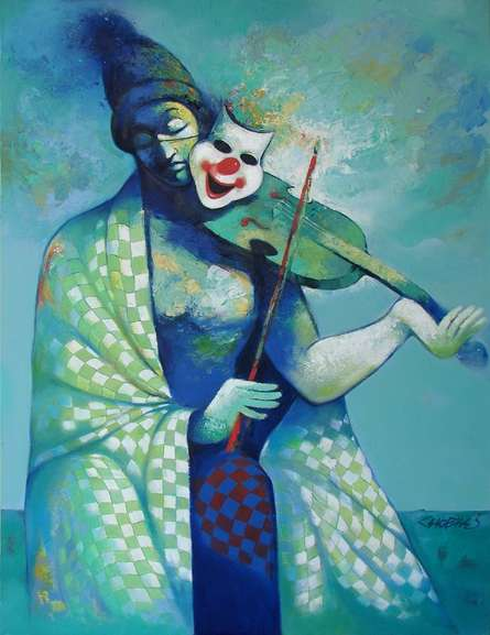 Figurative Acrylic Art Painting title 'Life 2' by artist Navnath Chobhe