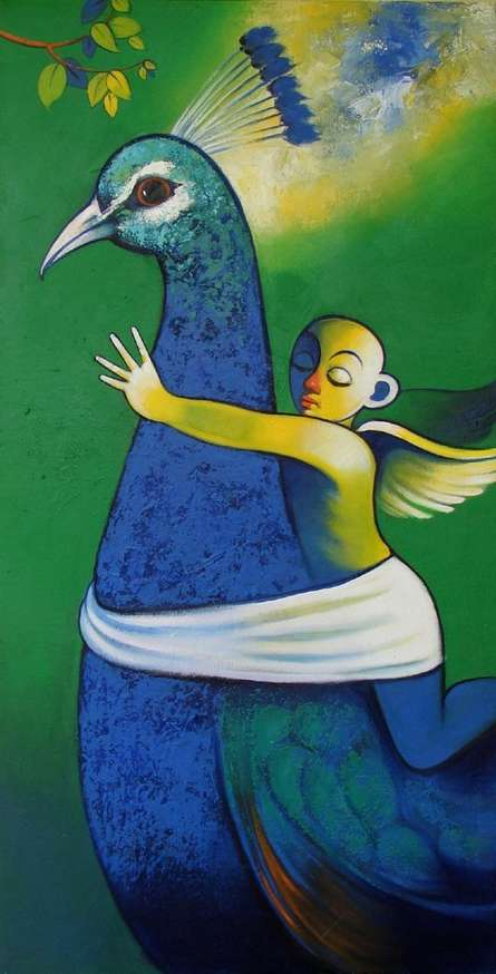 Journey | Painting by artist Navnath Chobhe | acrylic | Canvas