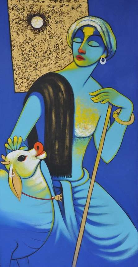 Navnath Chobhe | Acrylic Painting title Dream 2 on Canvas | Artist Navnath Chobhe Gallery | ArtZolo.com