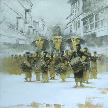 Untitled 4 | Painting by artist Pankaj Bawdekar | acrylic | Canvas