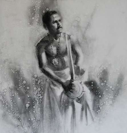 Timila 2 | Drawing by artist Pankaj Bawdekar | | charcoal | Paper