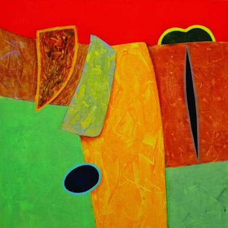 Abstract Acrylic Art Painting title Untitled 15 by artist Bhushan Vaidhya